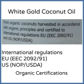 White Gold Organic Extra Virgin Coconut Oil