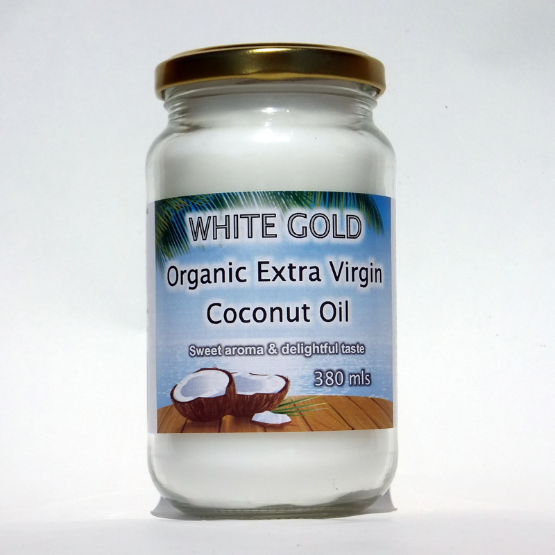 White Gold Organic Extra Virgin Coconut Oil 380 ml