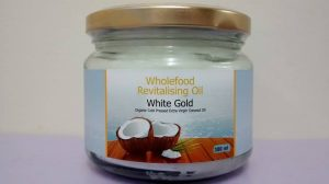 Oil 300ml Glass Jars White Gold Extra Virgin Coconut Oil