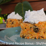 Raw Carrot Cake - White Gold Brand Recipe Bonus - Shy Sheep