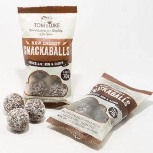 5 Snackaballs Chocolate Rum and Raisin Raw Energy